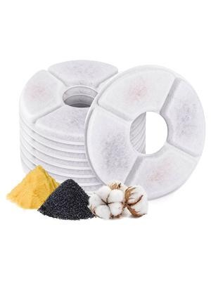 Noblik Filtros cuadrados para fuente paquete de 8 filtros de fuente adecuados para fuentes de flores de mascotas de 2,5 l resina de intercambio de iones y carb/ón activado