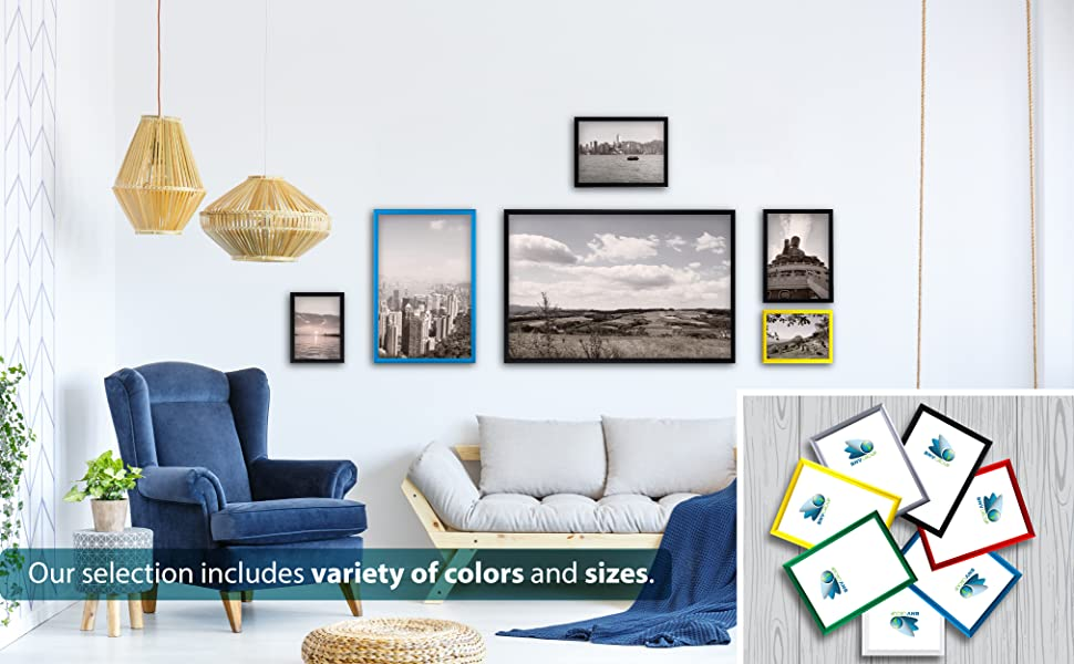 snap frames of all sizes, all colors aluminum frames, Picture frames, Home snap frames, Frame 14x22