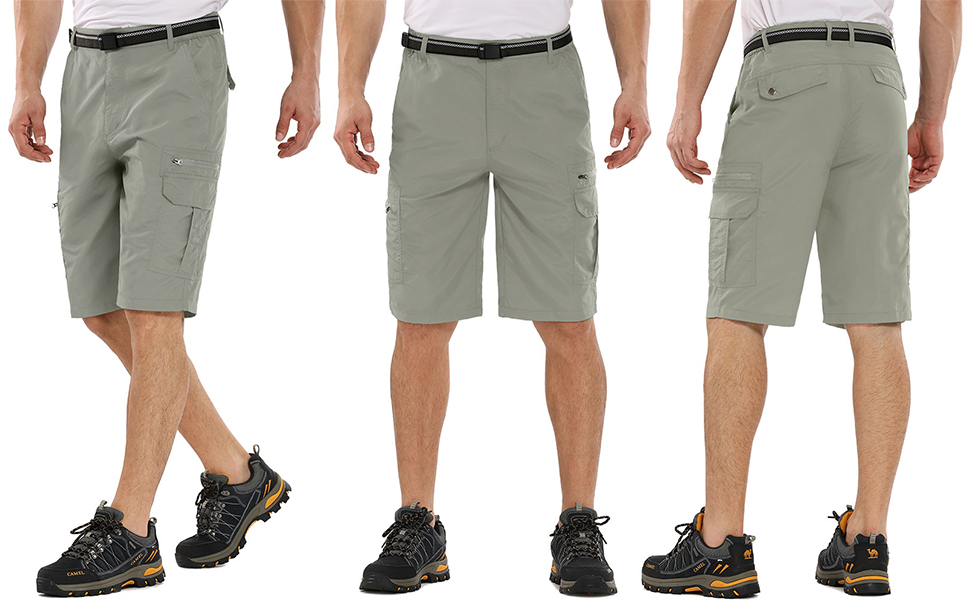 Men's Outdoor Lightweight Quick Dry Hiking Shorts Sports Casual Shorts
