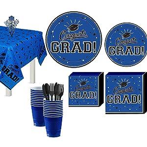 Graduation Party Sticker Labels Best is Yet to Come Grad Party Supplies Royal Blue Graduation Circle Stickers 24 Ct. Blue Grad
