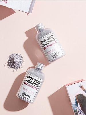 handmade heroes dry shampoo for dark hair vegan natural