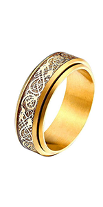 celtic dragon rotatable rings