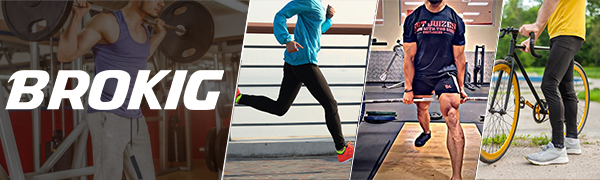 Mens Lightweight Gym Running Jogger Pants, Men's Slim Fit Workout Sweatpants with Zipper Pocket