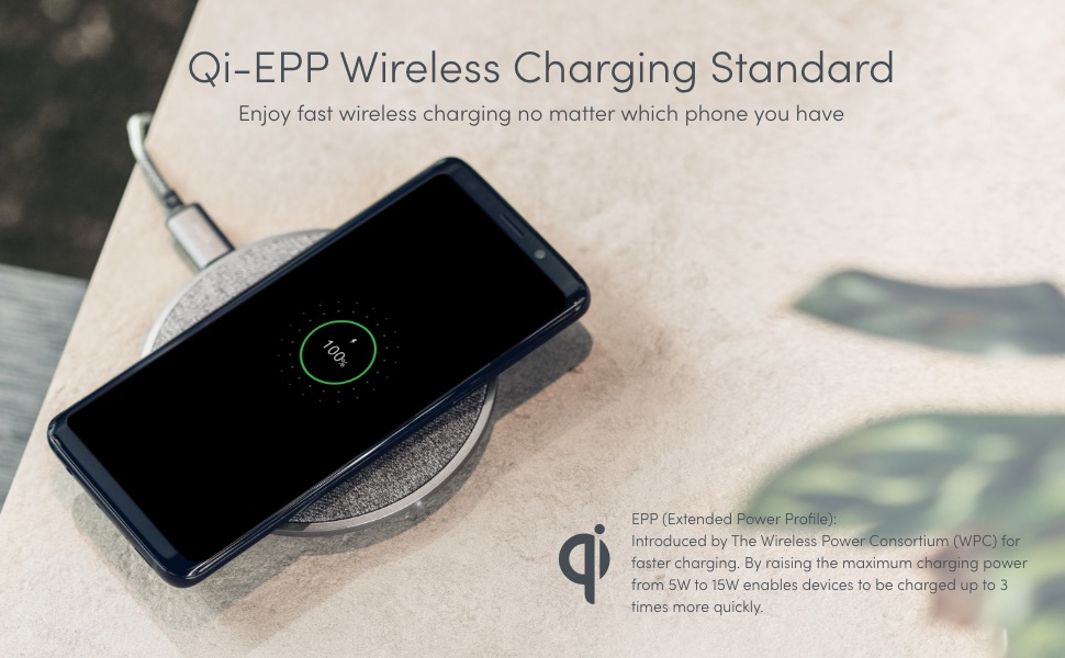 wireless charger 15w usb c charger 18w fabric textured soft usb c cable fast charging