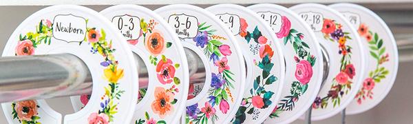 Closet Dividers Banner, Floral Bouquet