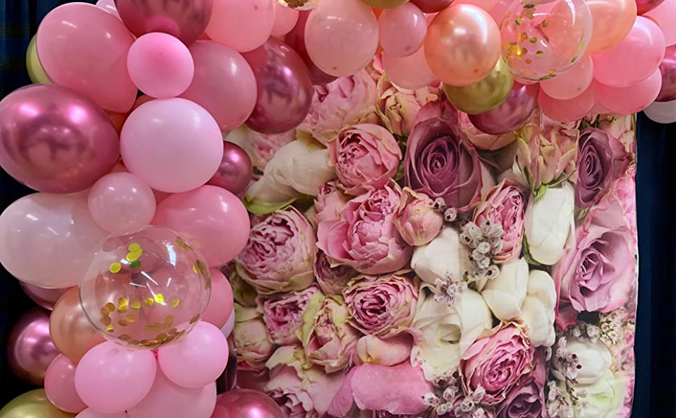Light Pink and Mauve Balloons
