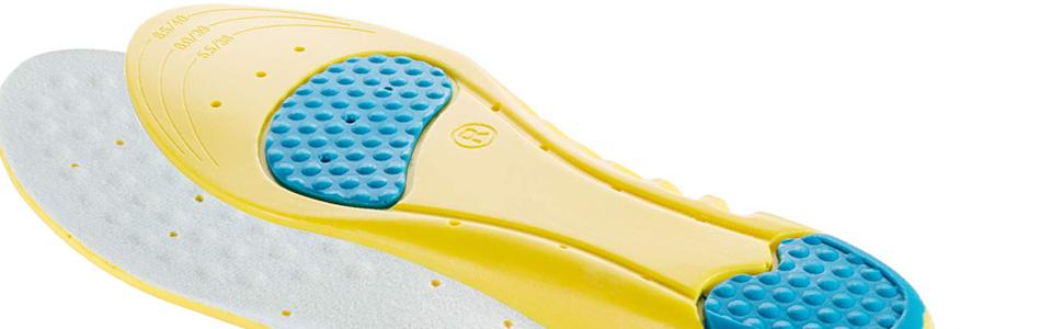Yimidon Semelle, Semelles de Chaussures Sport Comfort Cuttable pour Homme et Femme Absorption des Chocs, Respirant Anti Odeur, 1 Paire