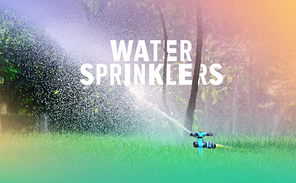 water sprinkler blue