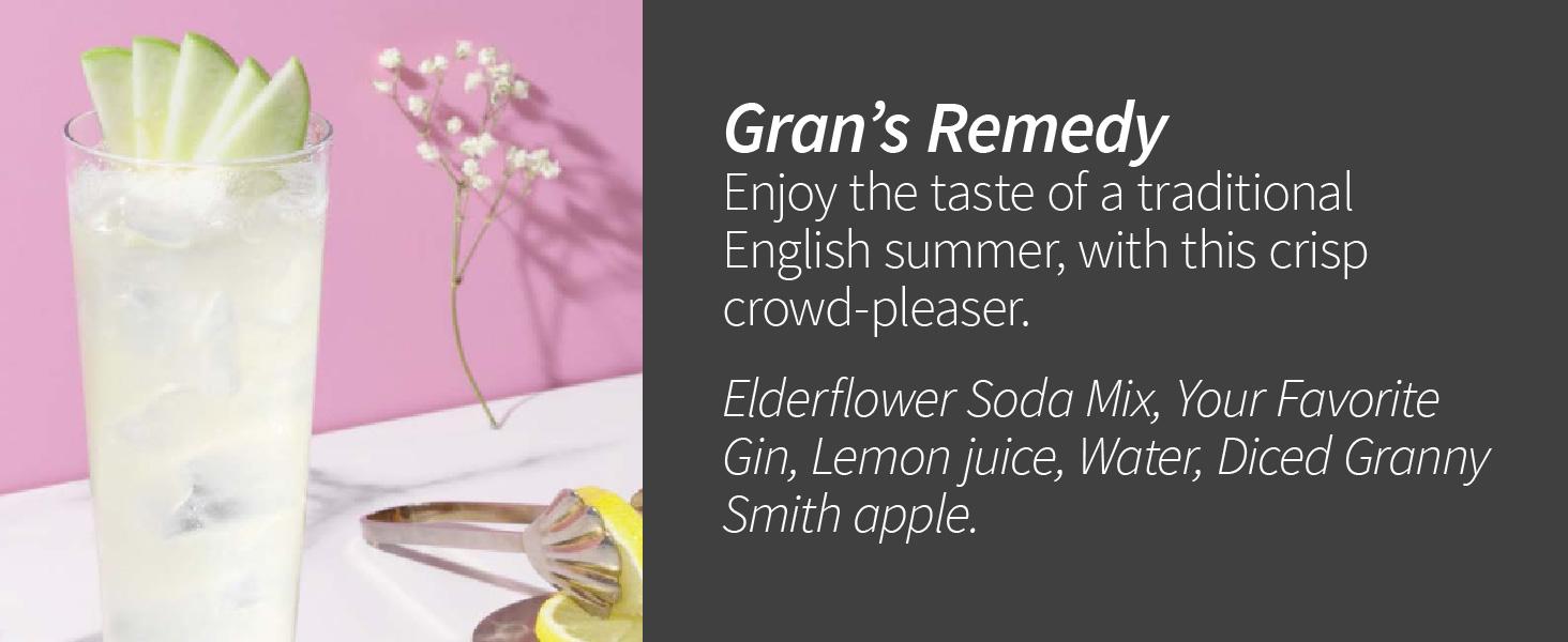Gran's Remedy Elderflower and Apple Cocktail