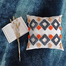 Decorative boho tirbal accent throw pillow cover