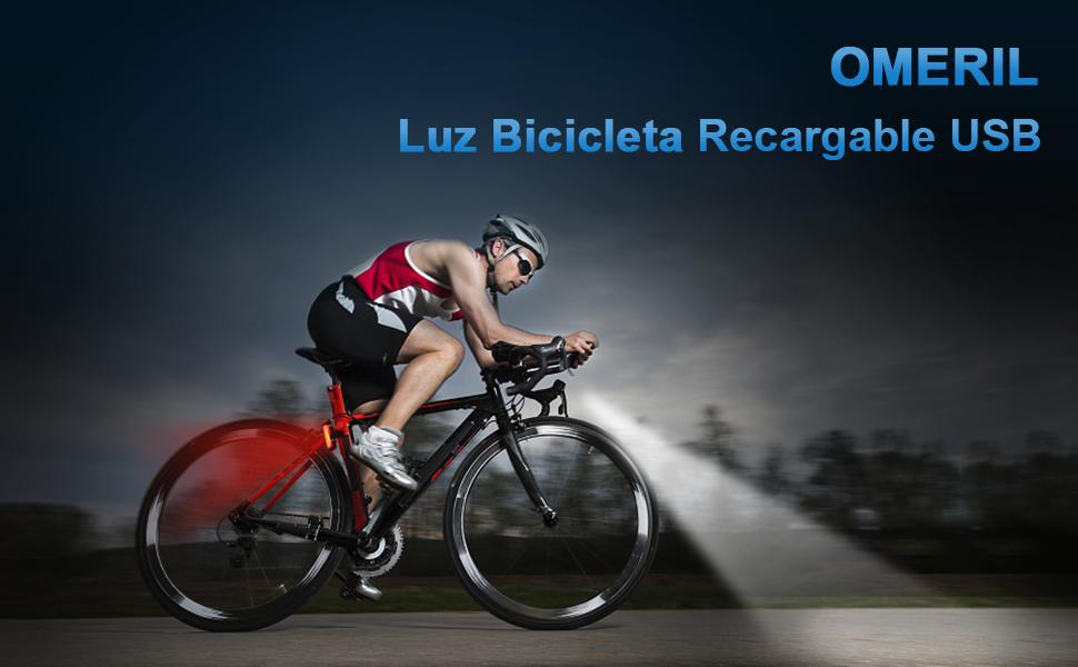 OMERIL - Luces Bicicleta Delantera y Trasera Linterna Bicicleta ...