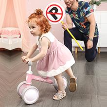 pink baby balance bike