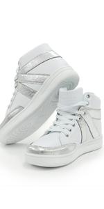 Spark Sneaker, White Silver sneaker, alexandra sneaker