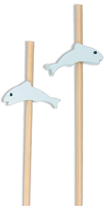 Decorative Fish Picks Skewers for Catering Events Holidays and more