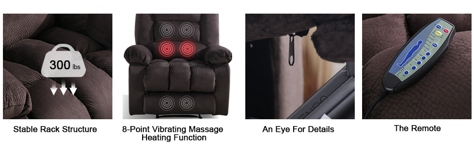 Silla Reclinable De Masaje calefacción sala de estar sofá