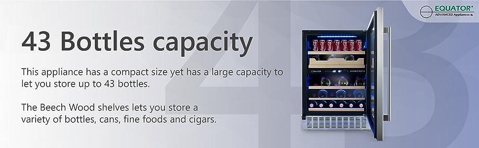 43 bottle capacity