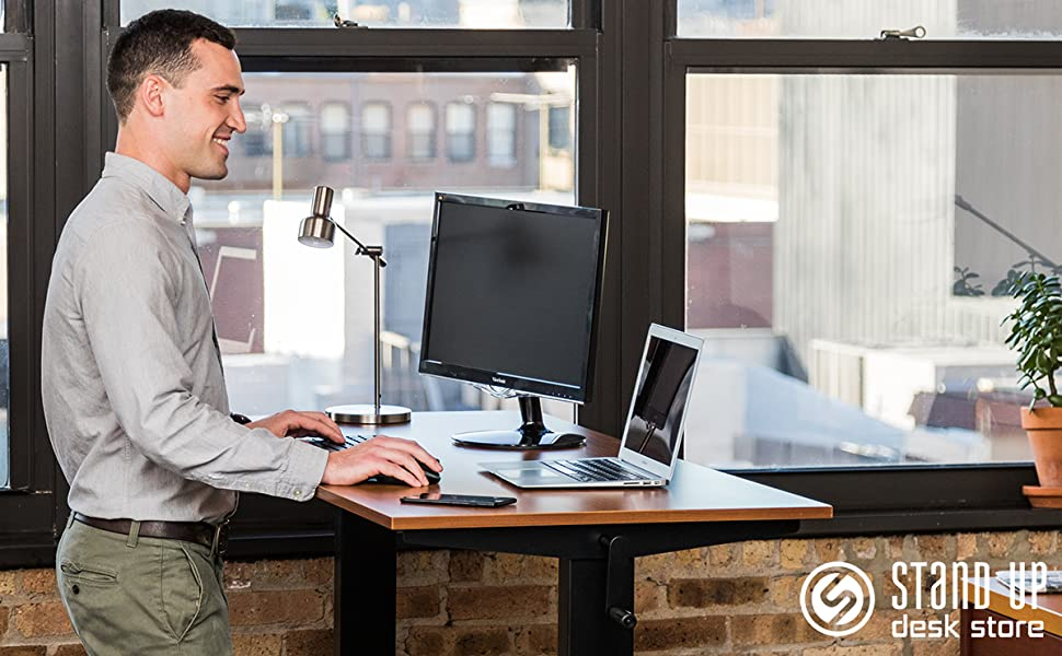 Stand up desk store crank adjustable sit