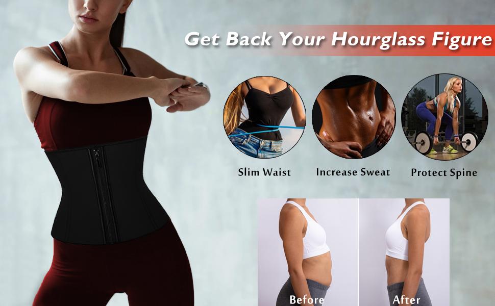 latex waist trainer corset