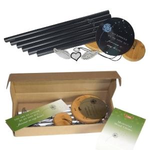 Sympathy Wind Chime in black plus packaging
