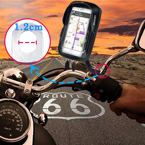 Motorbike mirror phone holder