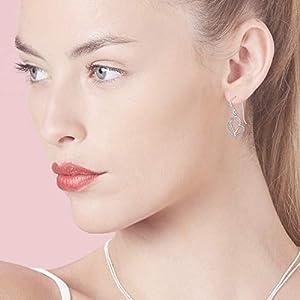 Boma Jewelry Sterling Silver Polished Twisting Heart Dangle Earrings