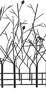 Decorative Tree Motif Wrought Iron Metal Wall Plaque