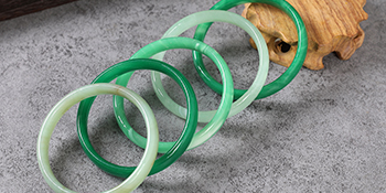 Inner flat jade bracelet bangle