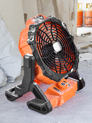 Electric Industrial Fan with Work Light
