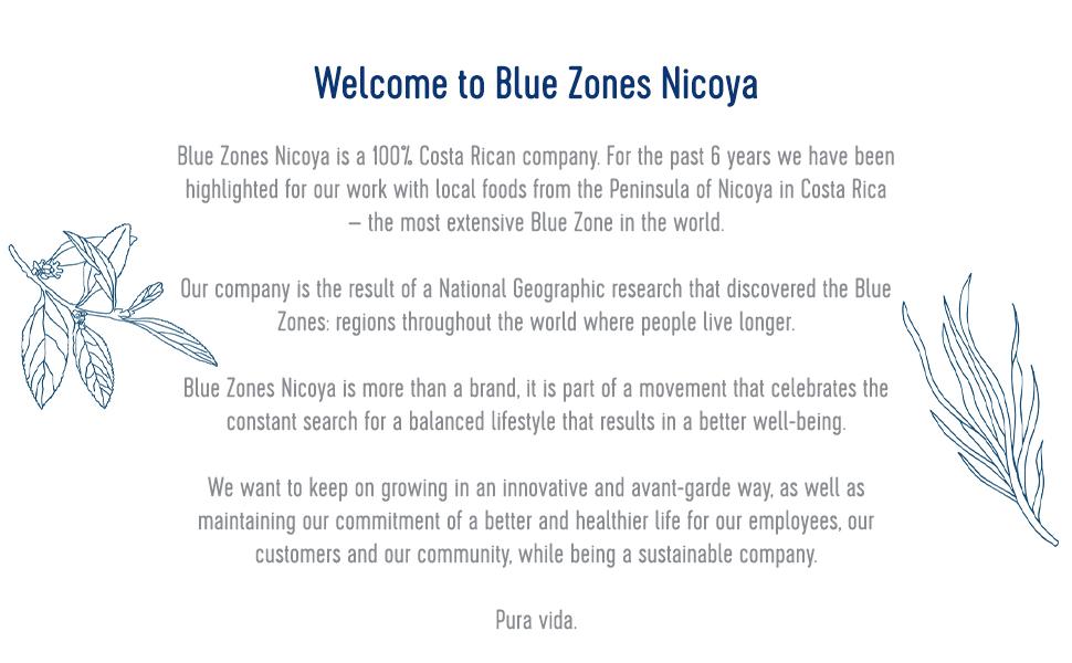 Blue zones nicoya, power drink, costa rica, healthy, yummy blue, delicious, good smell, flavorful
