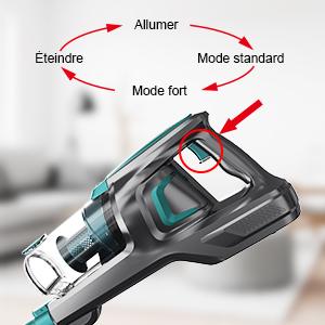 aspirateur balai filtre hepa acier inox