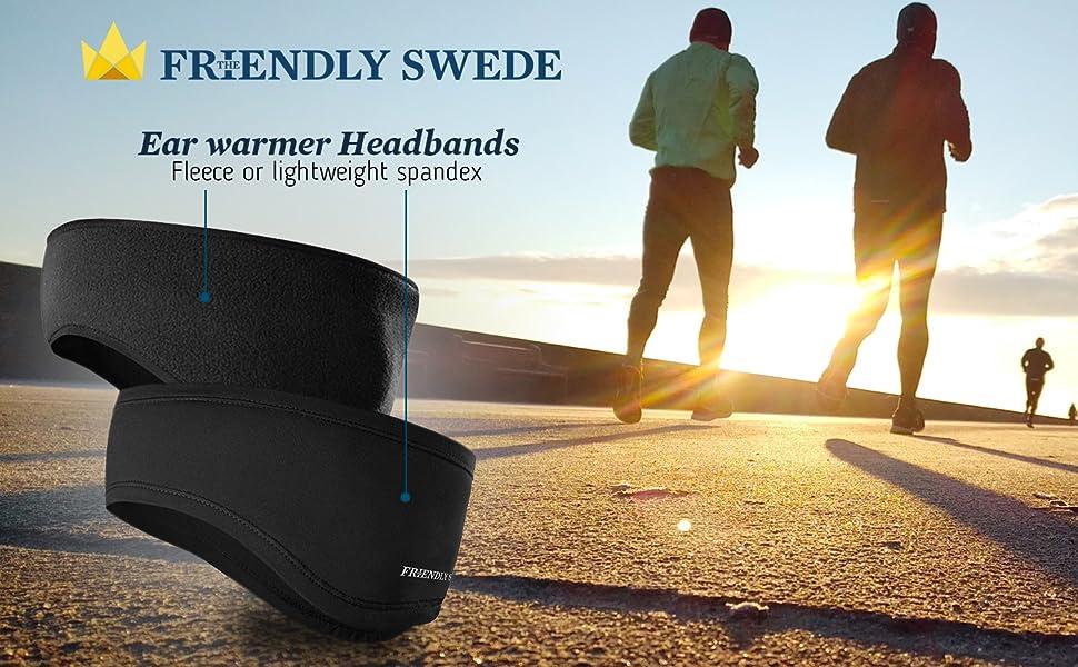 Ear warmer headband when performing winter sport.