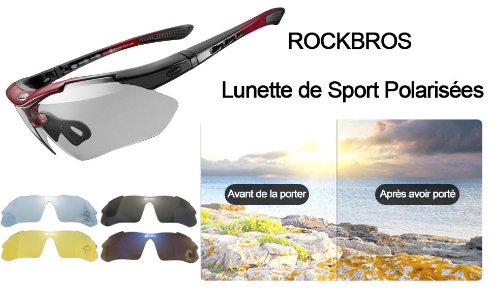 ROCKBROS Vélo//100/% UV400 Lunettes De Soleil Sports Polarisé Lunettes UK Stock