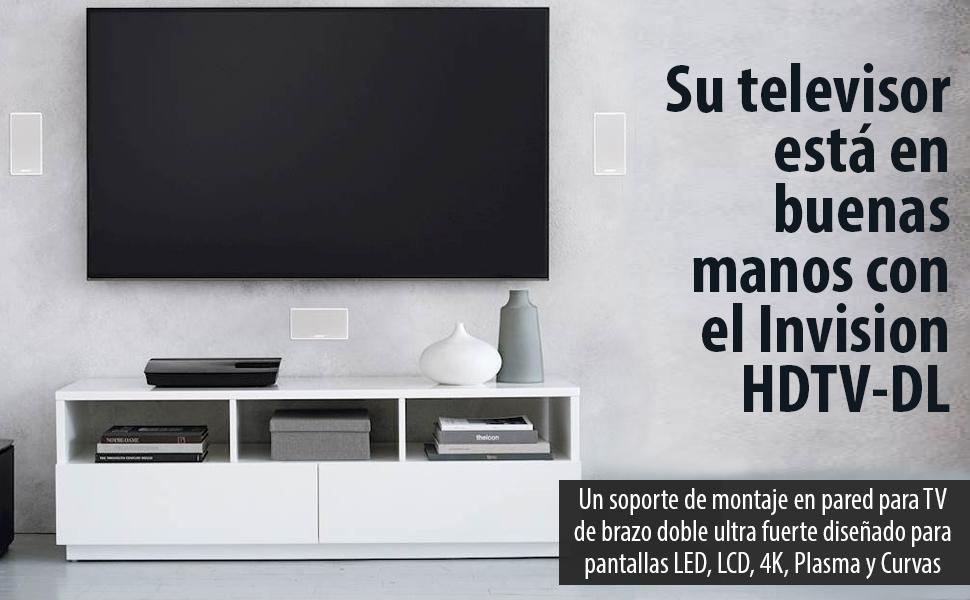Invision Soporte TV de Pared Doble Brazo para Pantallas de 24-55 ...
