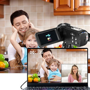 Flashandfocus.com b0388b81-3528-4c15-97b3-da0a5a132b04.__CR0,0,300,300_PT0_SX300_V1___ Video Camera 2.7K Camcorder with Microphone Ultra HD 36MP Vlogging Camera for YouTube IR Night Vision 3 Inch Touch…
