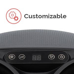 Customizable settings