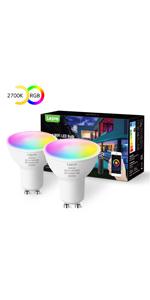 Smart GU10 LED Bulbs RGBW