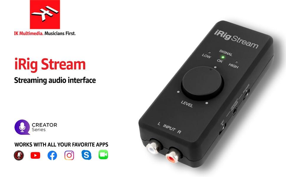 iRig stream audio