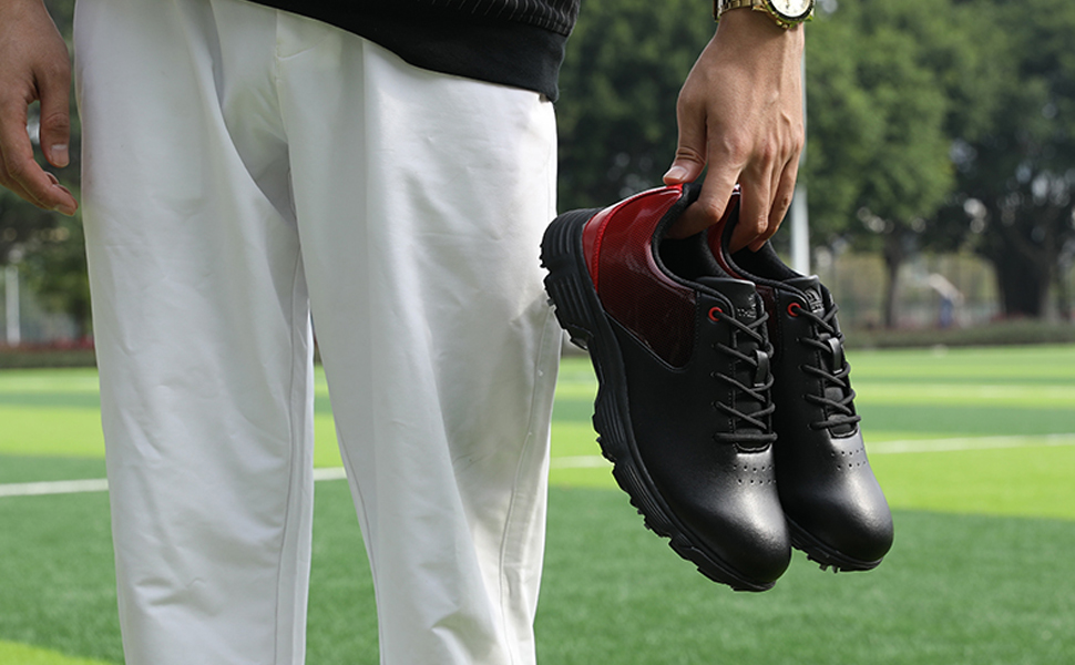 Men Professional Spikes Golf Shoes