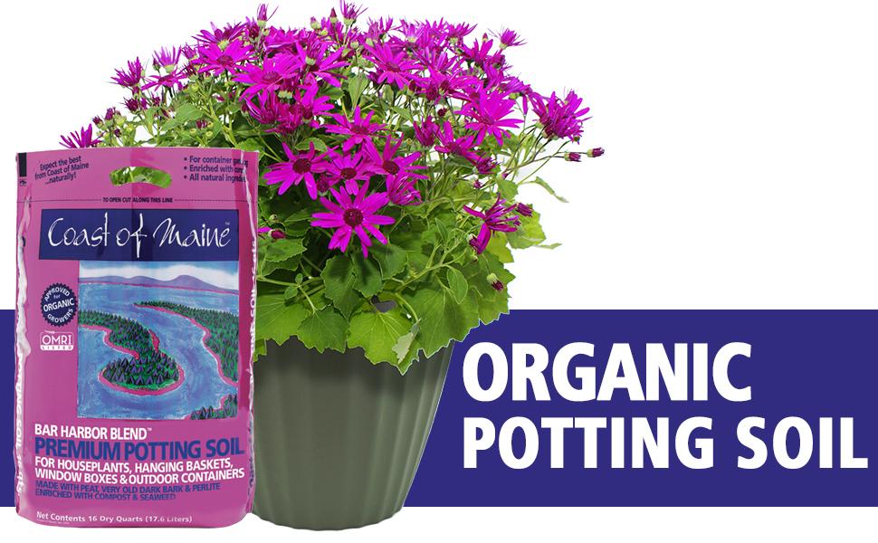 Bar harbor blend, organic potting mix, perfect potting mix, Organic potting soil, OMRI soil