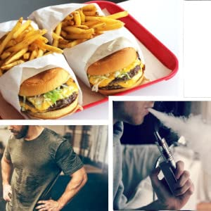 fast food gym life sweaty clothes vaping mint juul