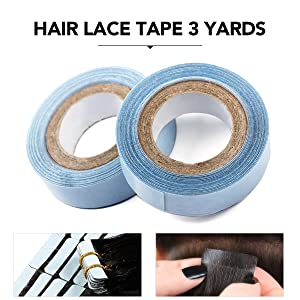"Lace Front Tape--Blue Color 0.85 CM(1/2"")  x 3 Yards"