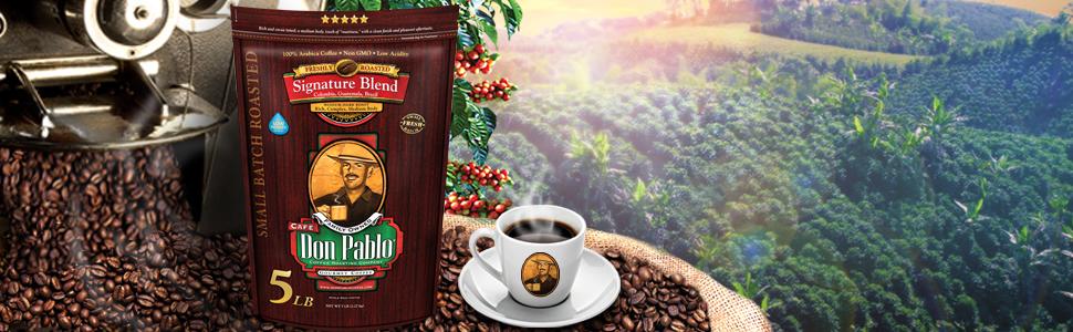 don pablo coffee signature blend arabica beans