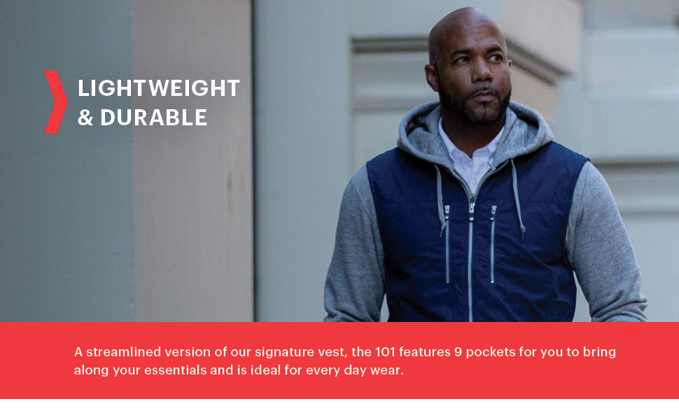 lightweight vest perfect for warmer weather