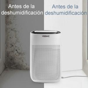 YISSVIC Deshumidificador Purificador 2 en 1 Mini Deshumidificador Portátil 1L para Hogar Silencioso Bajo Consumo con Filtro HEPA Trabajo 750ml por Día: Amazon.es: Hogar