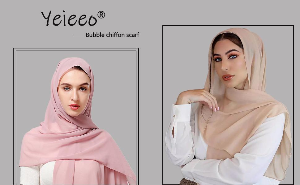 Bubble chiffon scarf