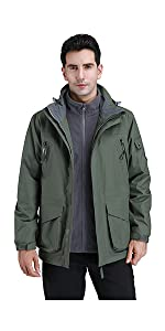 men 3 in 1 jacket
