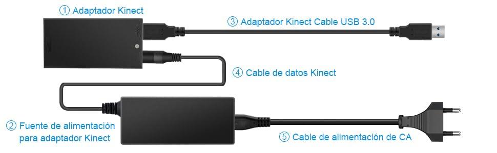 Kinect Adaptador para Xbox one S X, Microsoft kinect Adapter ...