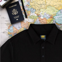 travel light and smart with our new polo shirt, it takes up less space and packs the biggest benefit