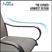 Curved armrests