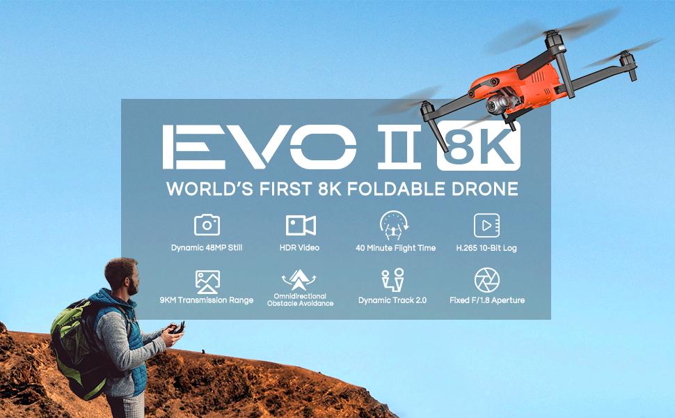 Autel Robotics EVO II Drone EVO 2 Foldable Drone 8K Video Camera Quadcopter- Banner